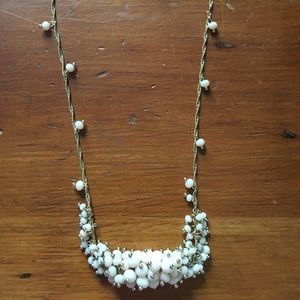Cream beaded necklace
